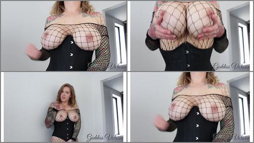 Cei –  Cruel Seductress – Goddess Victoria – Corset Curves Coax You Into Cum Eating