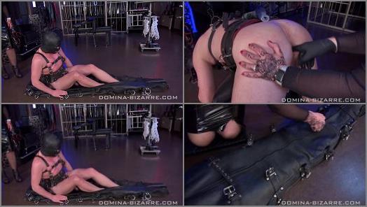Forced Orgasm –  Domina Bizarre – IM LEDER-BONDAGESACK ABGEMOLKEN – TEIL 1 – Milked In Leather Bondage Bag Part 1
