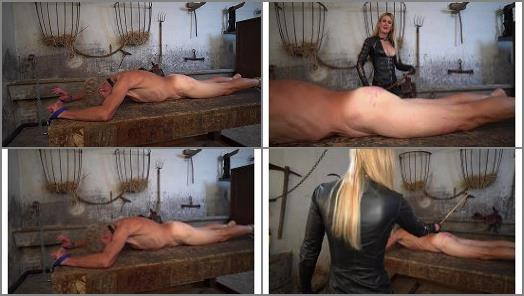 Leather Gloves –  Domina Scarlet – Caned on the Punishment Table
