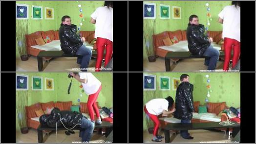 Femdom –  SpandexPlanet Clips Store – Ewa – Photographers visit – being tied up first