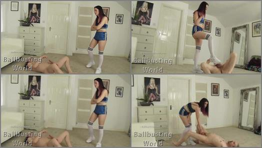 Ballbusting World PPV  Ballbusting Soccer girl Tiff kicks balls BB1403  preview