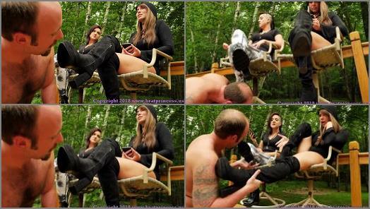 High heels sniffing – Brat Princess 2 – Princess Mariah, Princess Natalya – Get Over Here and Lick Our Dirty Boots