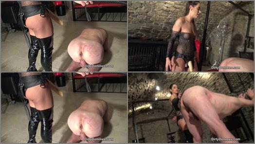 Dirty Dommes  Caged strapon meat part 2   Nomi Melone  preview