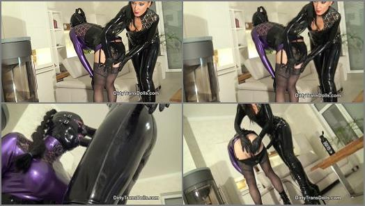 Spanked –  Dirty Trans Dolls – Rubber slut's anal training part 1 –  Fetish Liza