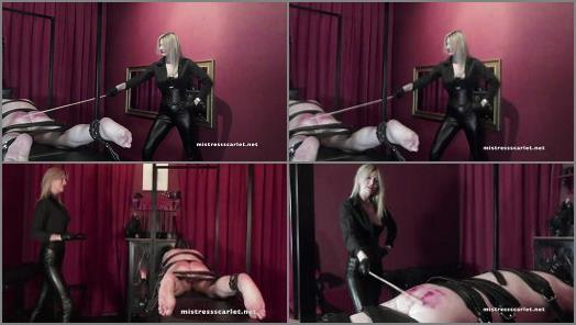 Classic Caning –  Domina Scarlet – Watch Me Punish My Boy