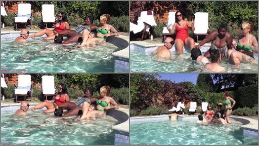 Outdoors – Mistress Ezada Sinn – Femdom games in the pool