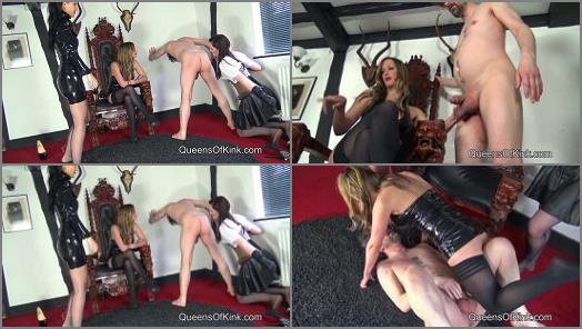 QUEENS OF KINK  Sadistic Ballbusting Trio   Mistress Nikki Whiplash Vivienne LAmour and Fetish Liza  preview