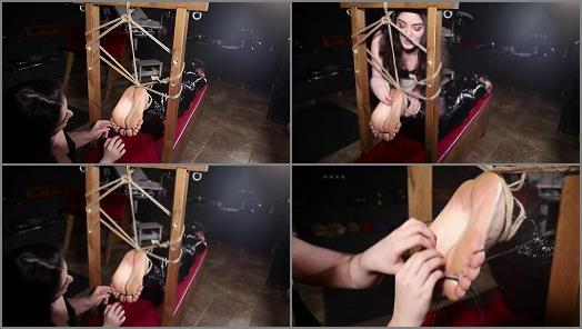 Soles tickling - RussianGirlsInDistress – Hysterical tickling for mummified Yuno