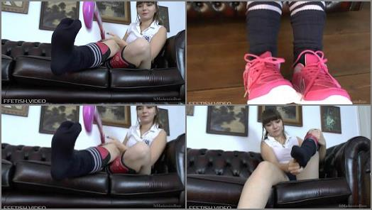 Nasty socks – St Mackenzies – Naughty School Girl Helen Makes You Sniff Her Sweaty Socks Then