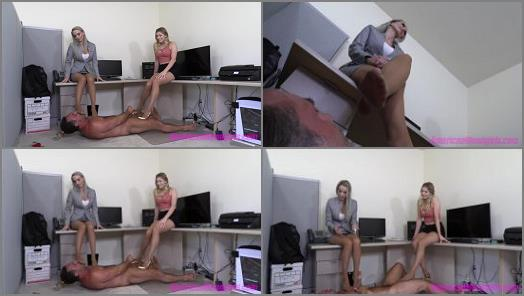 THE MEAN GIRLS  Office Footboy Punishment   Goddess Platinum and Princess Amber  preview