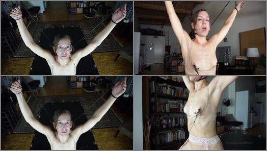 Neck Play –  Bondage Liberation – Elise Graves Sybian Choke Predicament