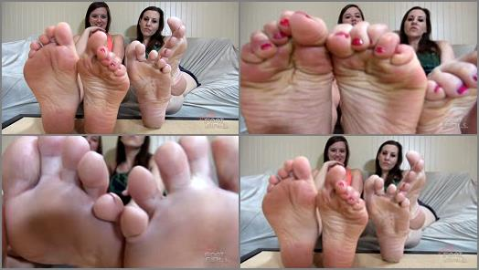 Bratty Foot Girls  Princess Meggerz Becky LeSabre  Jerk to Our Wide Wrinkled SOLES preview