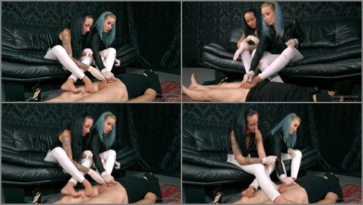 Bdsm –  Cruel Anettes Fetish Store – Two pairs of feet –  Mistress Anette and Mistress Anastasia
