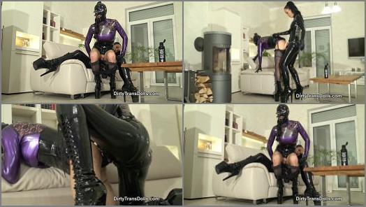 Dirty Trans Dolls  Rubber sluts anal training part 2   Fetish Liza and Natalie Goth TV  preview