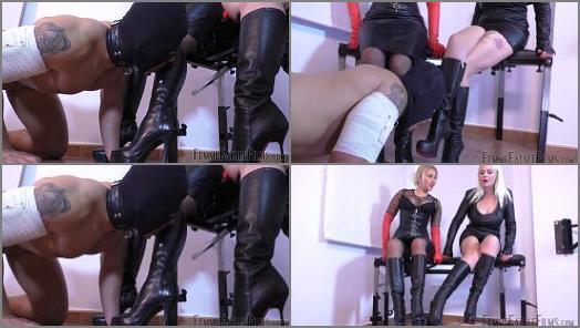 Femdom –  Femme Fatale Films – Suffer For Sucking – Super HD – Complete Film –  Divine Mistress Heather and Mistress Johanna