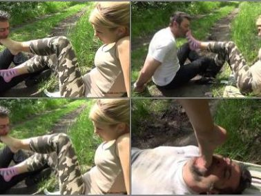 Foot worship - GABRIELLA - Saving Private Vigor - HARD Foot Gagging