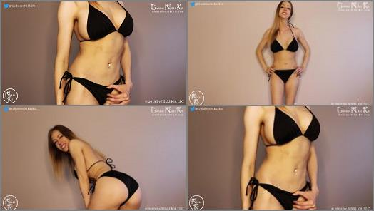 Goddess Worship –  Goddess Nikki Kit – Hot Sauce Stroking for a Bikini Brat CBT