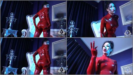 Goddess Tangent World of Femdom  Red Latex Worship  preview