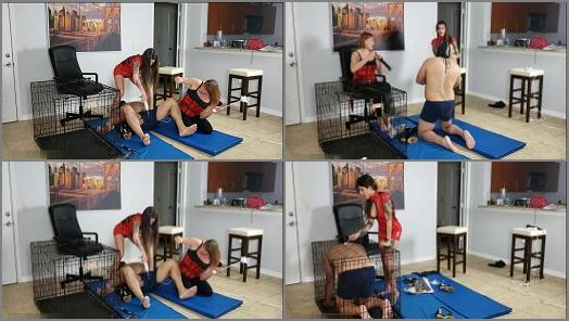 Foot Worship –  Kink Therapy – Jenni and Morgana turn R into a puppy