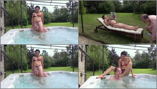 Ignored –  The English Mansion – Hot Tub Drubbing – Part 1 –  Mistress Amrita