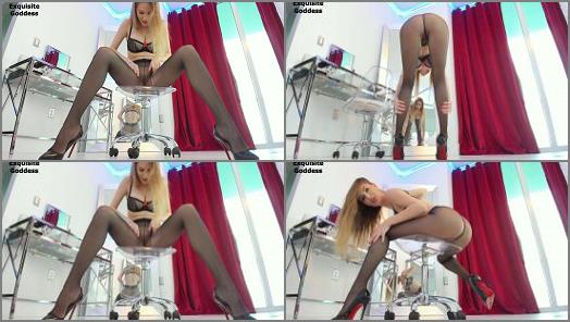Exquisite Goddess  Sheer pantyhose high heels worship preview