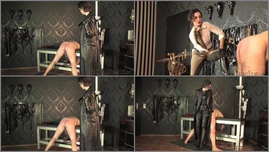Femme Fatale Films  Trenchcoat Whipping  Extreme Caning  Super HD  Complete Film   Lady Victoria Valente preview