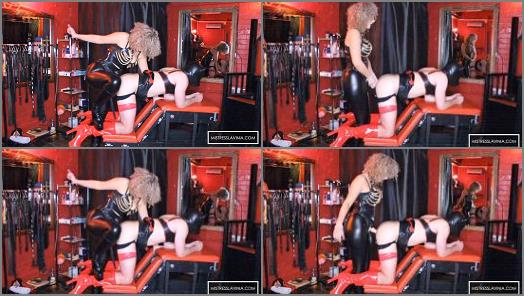 Mistress Lavinia  Rubber Clad Sissy Gagging For CK  preview