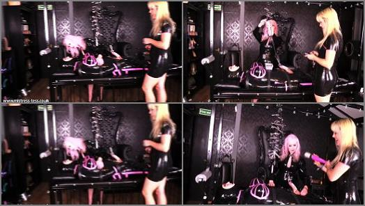 Mistress Tess UK Clip Store  Rubber Play Doll Part 2   Mistress Tess and Miss Kim Rub  preview
