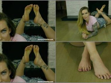 Feet Joi -  Amazon Goddess Harley – Ruined Dribble Foot Slave