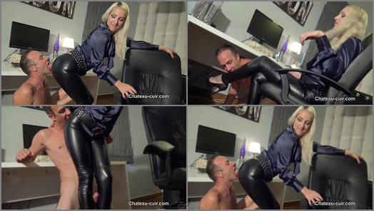 ChateauCuir  Leather leggings fuck in the office  Part 1   Liz Rainbow  preview