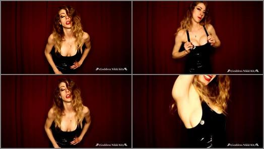 Joi –  Goddess Nikki Kit – Steamy CEI From a Mistress in a PVC Dress