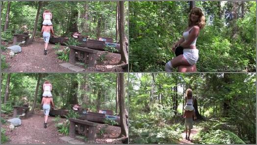 Jeans –  Riding Women – Kandy and pony Wander the Wilderness –  Mistress Kandy