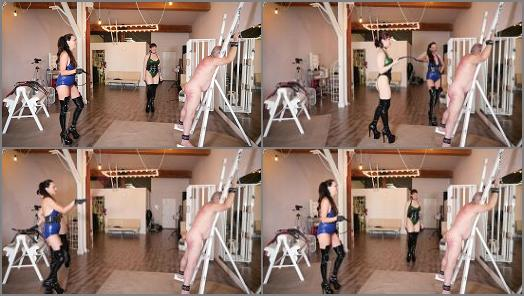 Female Domination – Stella Liberty – Whipping On The Cross with Andrea Untamed