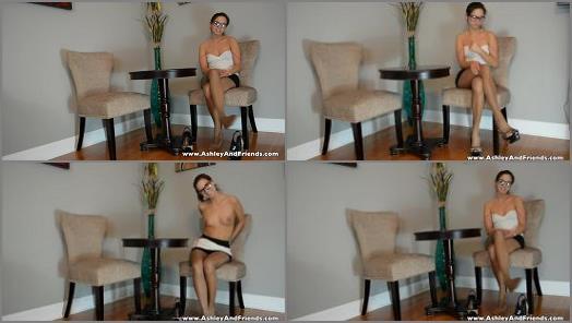 Nylon feet – Ashley Sinclair – Awkward Girl Interview Pantyhose Tease