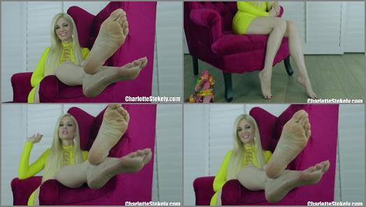 Cum to feet – Charlotte Stokely – Eat It Off My Feet