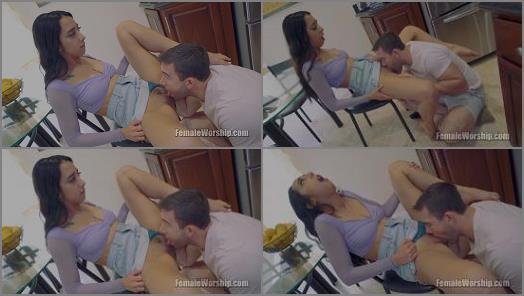 Skirt –  Female Worship – You Make My Legs Shake –  Kiarra Kai and Will Pounder