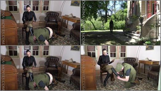 Uniform –  MADAME CATARINA – CRUELEST BEAUTY – Safari Caning- Stable Boy Boot Service: Chapter One