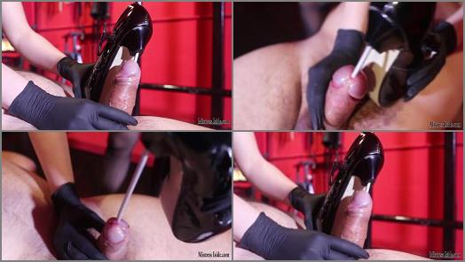 Bdsm –  Mistress Iside – STRONG CBT AND NAIL HEELS IN DOUBLE PENETRATION