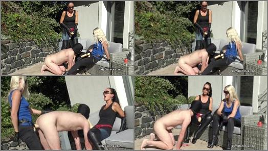 Outdoors –  Dirty Dommes – Outdoor strap-on bitch fucking part 1 –  Fetish Liza, Liz Rainbow