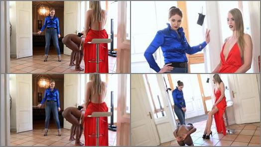 FEMDOMPOVCLIPS  A Very Cruel Caning   Mistress Madita And Mistress Cloe  preview