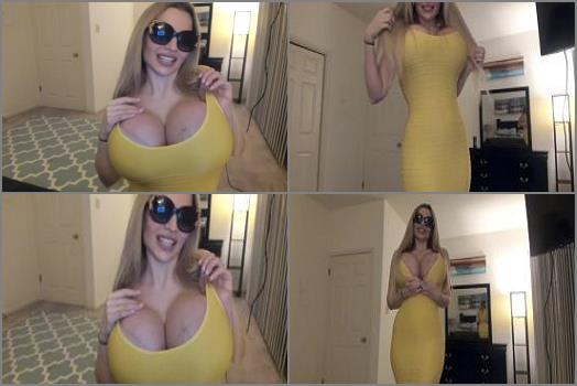 Femdom –  Katy AnnXO – Gigantic Bimbo Boobs In A Tight Dress