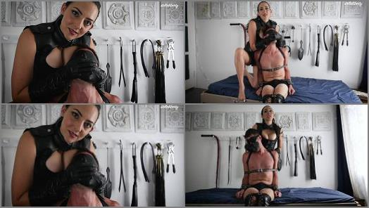 Stella Liberty  Leather Femdom Hand Over Mouth  preview