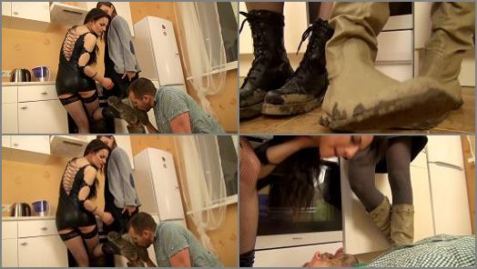 Shoe & Boot Worship – UNDER GIRLS FEET – Under Our Muddy Boots –  Linda and Stella