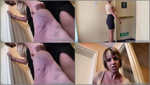 Goddess Brianna  Hotel Stairwell Barefoot Inspection POV preview