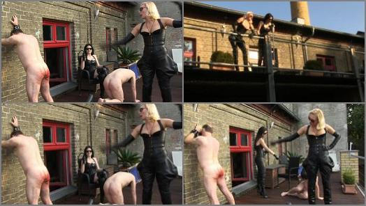 SADO LADIES Femdom Clips  Whipped Worker   Mistress Akella And Blackdiamoond  preview