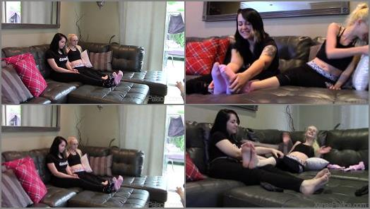 Footfetishbb – Xanas Foot Fantasies – Miss Ali – Celene Gives Ali a Tickle Workout
