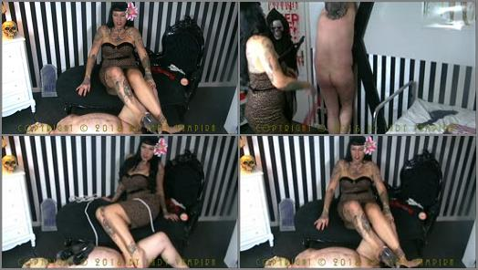 Pin Up Domination by Lady Vampira  Creepy BDSM Torture on Halloween  preview