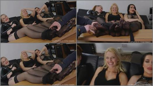 UKTickling  Emerald Cherry and Sophia Triple Foot Tickle Madness preview