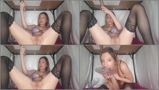 Blonde Teen in Lingerie is Milking Dick Under the Table  preview