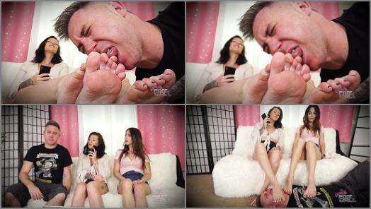 Bratty Foot Girls  Blackmailed into licking our Sole   Amethyst Mars and Kay Kendall  preview
